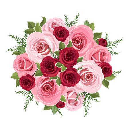 nosegay: Roses bouquet  Vector illustration  Illustration