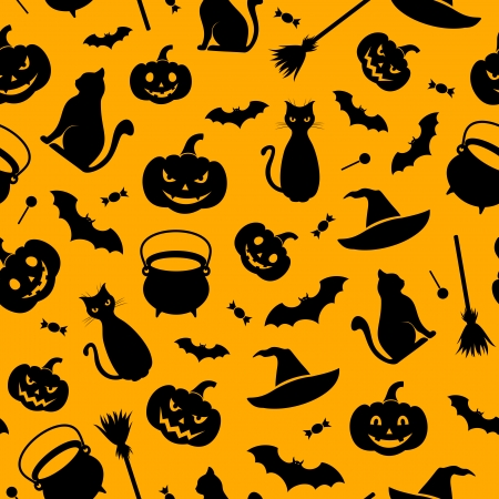 Halloween seamless background  Vector illustration   Vector