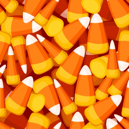 Seamless background with candy corn  Vector illustration  Illustration