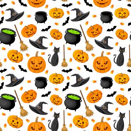 Halloween naadloze achtergrond afbeelding Stock Illustratie