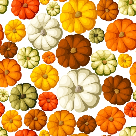 Pumpkins  Vector seamless background  Vector