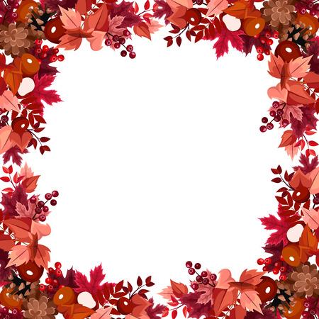 Autumn leaves frame  Vector illustration  Stock Vector - 23558894