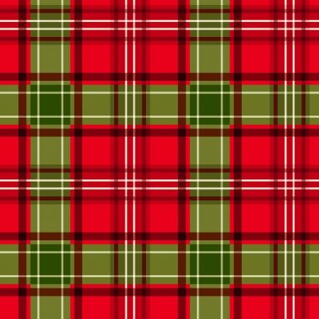 irish christmas: Christmas tartan  Vector seamless pattern