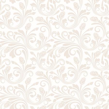 花のシームレスなパターン ベクトル イラスト