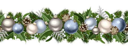 Christmas horizontal seamless garland  Vector illustration