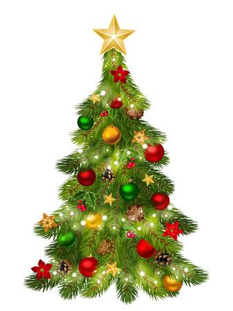 pine cones: Christmas tree  Vector illustration  Illustration