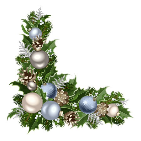 Christmas decorative corner  Vector illustration  Vector