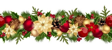 Christmas horizontal seamless background  Vector eps-10  Ilustração