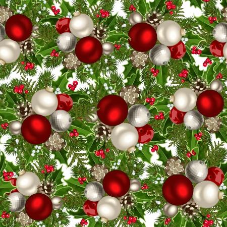 Christmas seamless background  Vector illustration  Vector
