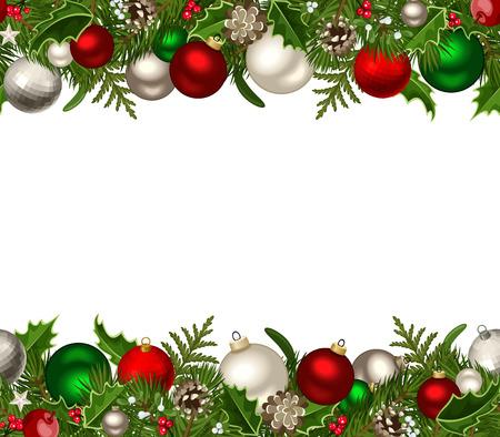 クリスマス水平シームレスな背景ベクトル イラスト  イラスト・ベクター素材