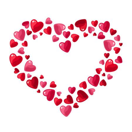 st valentine  s day: Valentine s day hearts illustration