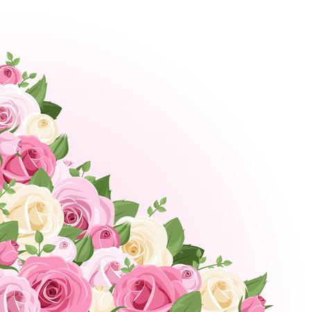 Vector achtergrond met rozen