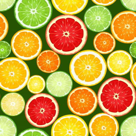oranges: Seamless background with citrus fruits  Vector illustration  Illustration