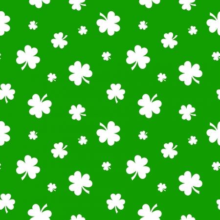 St Patrick's day vector naadloze achtergrond met klaver Stock Illustratie