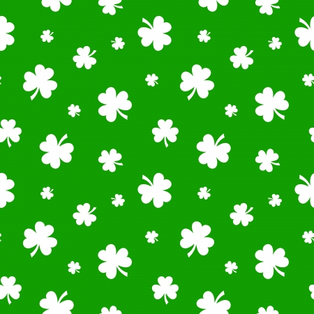 patrick s: St  Patrick s day vector seamless background with shamrock