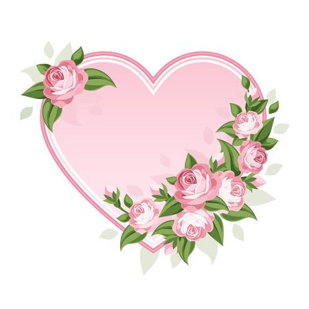 victorian romance: Heart and roses  Vector illustration  Illustration