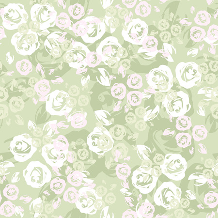Seamless pattern with roses  Vector illustration