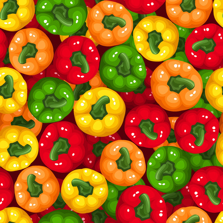 Vector seamless background with bell peppers   Vector