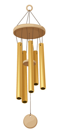 Wind chimes  Vector illustration