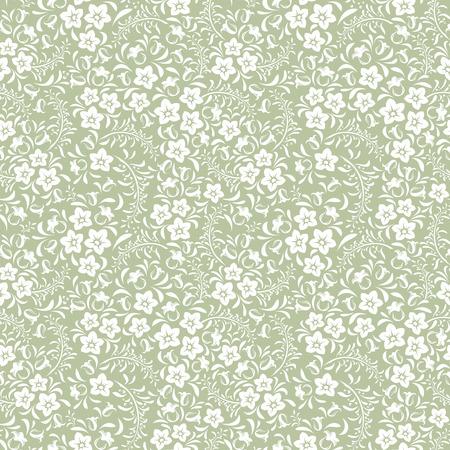 Seamless vintage floral pattern  Vector illustration