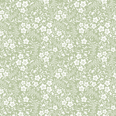 bedclothes: Seamless vintage floral pattern  Vector illustration