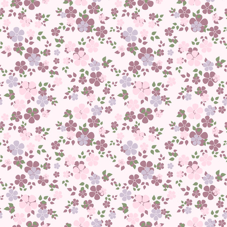 花のベクトル図とのシームレスなパターン