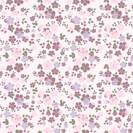 verde y morado: Patr�n sin fisuras con flores ilustraci�n vectorial Vectores