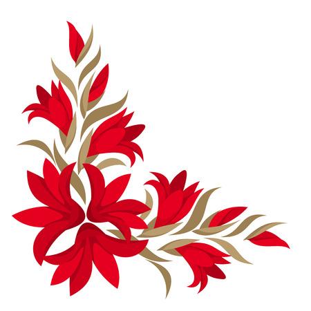 Red gladiolus flowers  Vector illustration  Vector