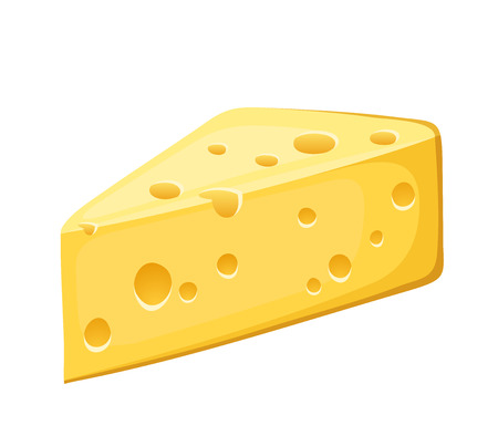 porous: Piece of cheese  Vector illustration  Illustration