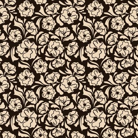 luxo: Seamless floral ilustra