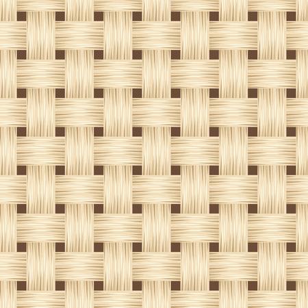wattle: Wicker texture  Vector seamless background  Illustration