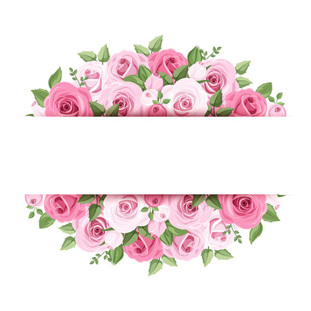 Background with pink roses Stock Vector - 26552515