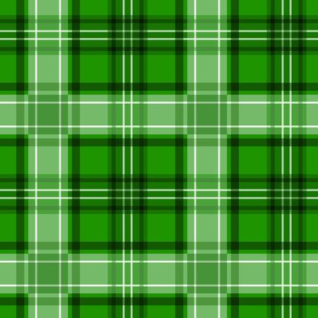 Green tartan texture  Vector seamless pattern