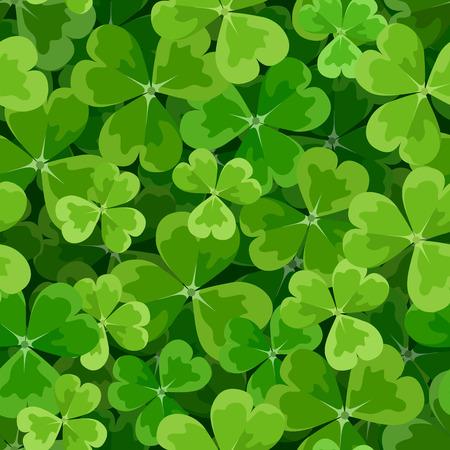 st patrick s day: St Patrick s giorni vettore sfondo senza soluzione di continuit� con trifoglio Vettoriali