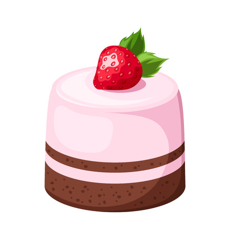 Mousse cake  Vector illustration