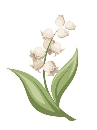Lily van de vallei bloem Vector illustratie Stock Illustratie