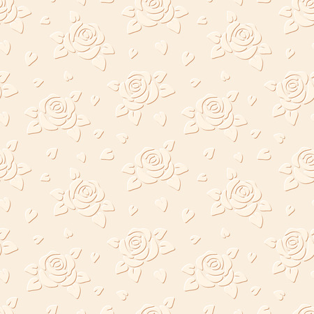 embossed paper: Seamless embossed background with flowers  Vector illustration  Illustration
