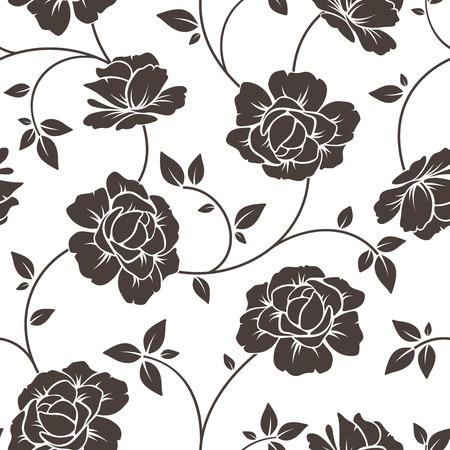 impatiens: Seamless floral pattern  Vector illustration