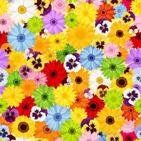 Seamless pattern con fiori colorati