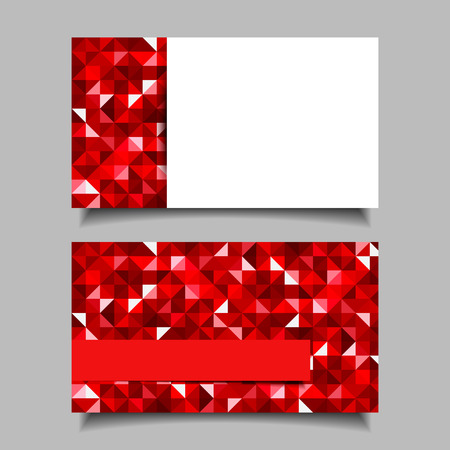 Business card with red mosaic pattern  Illustration
