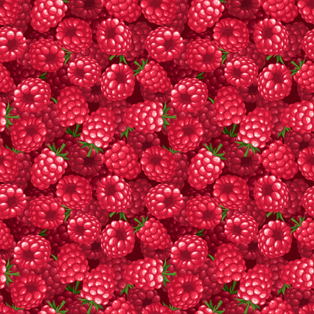 Seamless background with raspberry Vector illustration