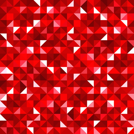 Abstract seamless background with red mosaic pattern  Vector Vector
