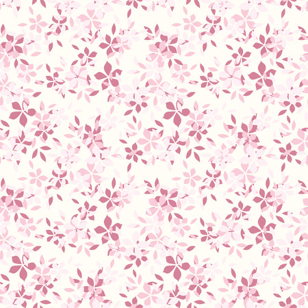 Seamless pattern with pink flowers  Vector illustration