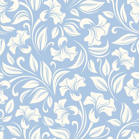 シームレス花柄ベクトル図  イラスト・ベクター素材