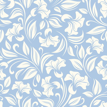 Seamless floral pattern  Vector illustration   Çizim