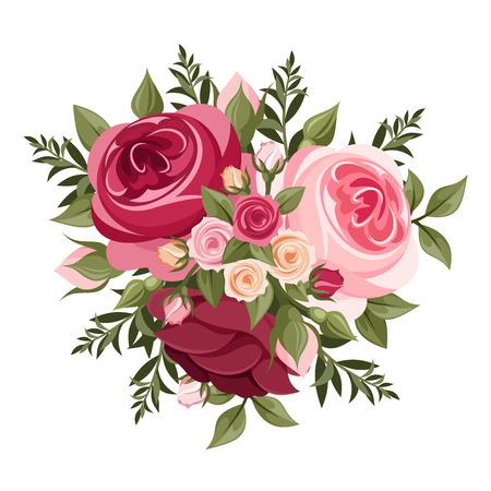 petites fleurs: Rouge et roses roses
