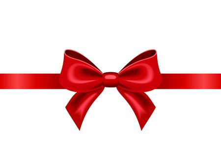 Rood lint met boog Vector illustratie