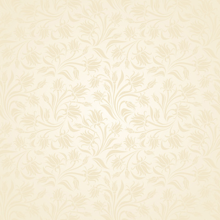 Seamless beige floral pattern illustration