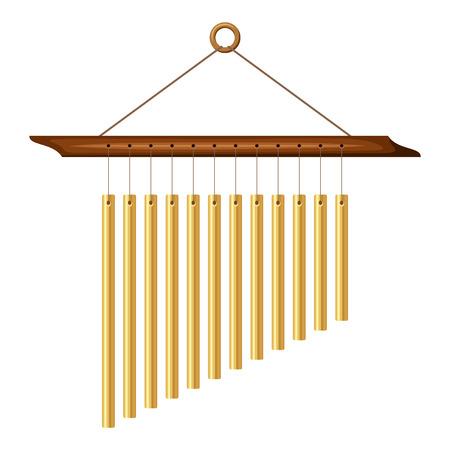Wind chimes  Vector illustration