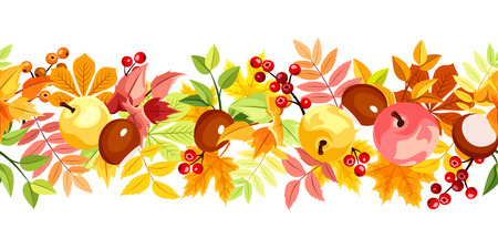 withered: Horizontal seamless background with colorful autumn leaves.